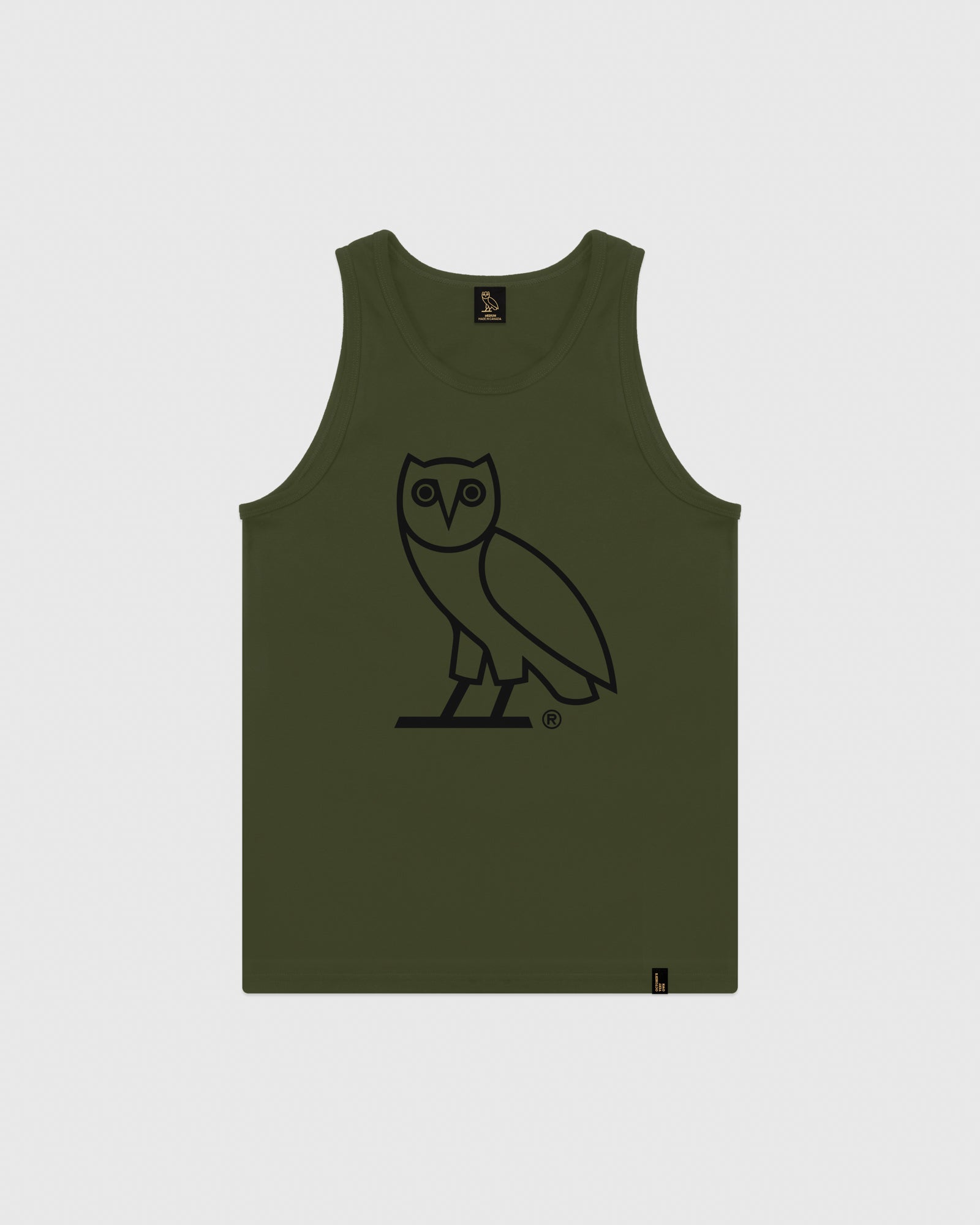 OVO OWL TANK TOP - MILITARY GREEN