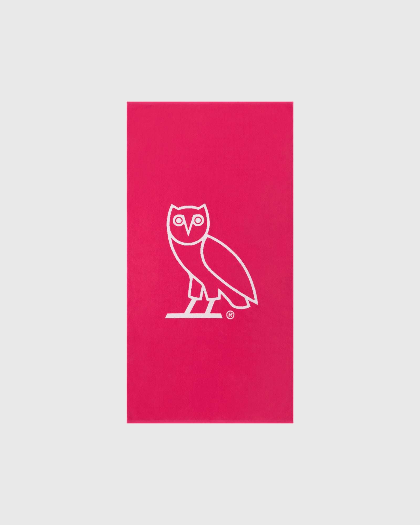 OVO OWL BEACH TOWEL - PINK/WHITE