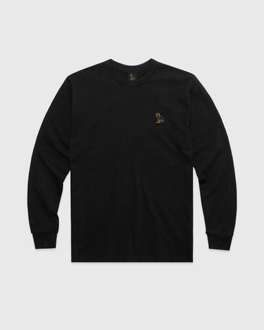 OVO ESSENTIALS LONGSLEEVE T-SHIRT - BLACK