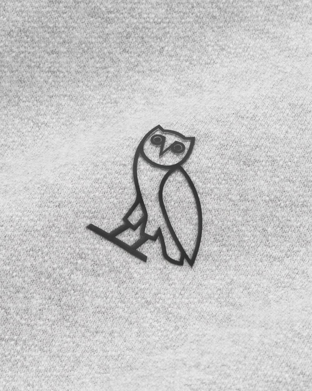 OVO ESSENTIALS LONGSLEEVE T-SHIRT - HEATHER GREY IMAGE #4