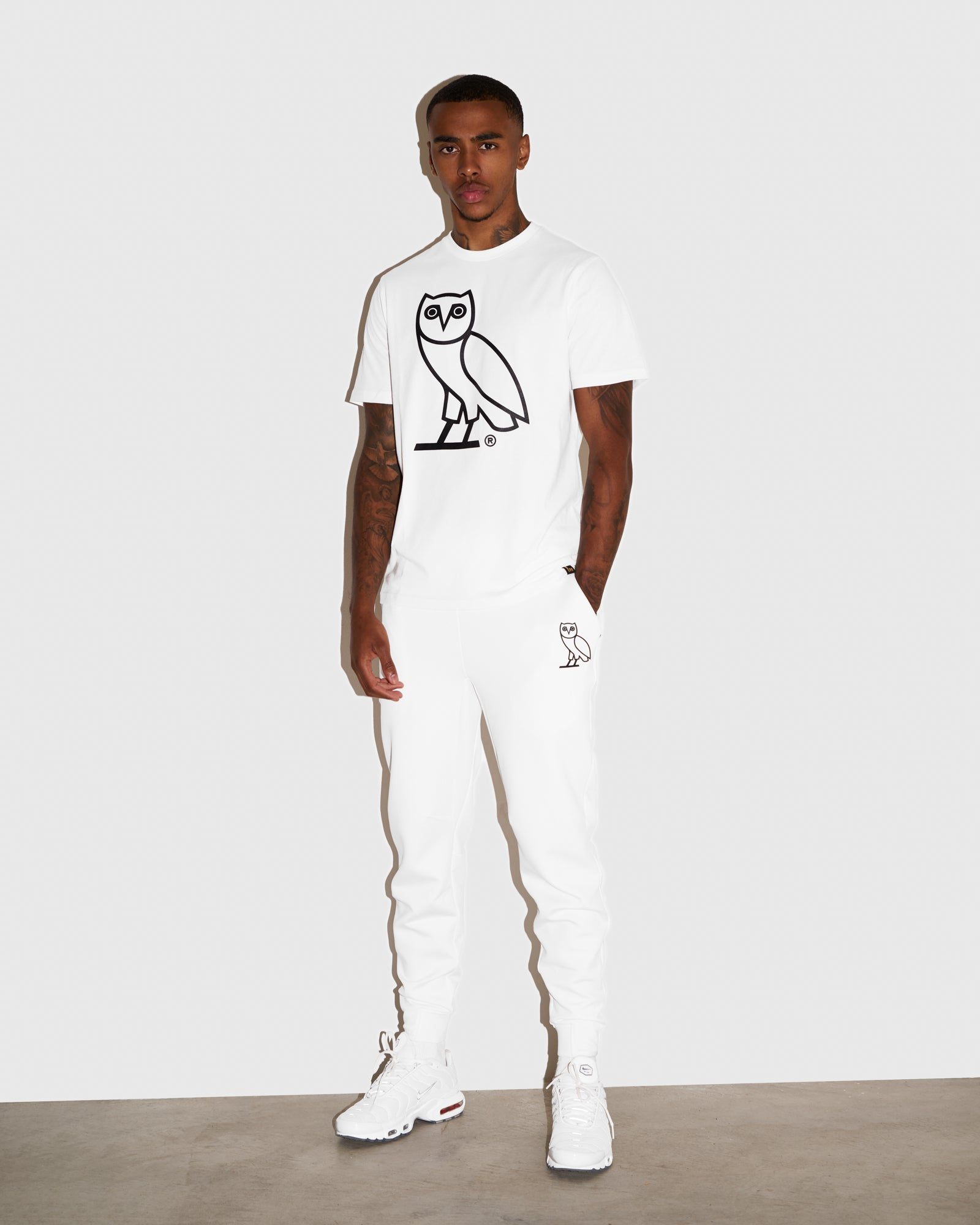 OVO DOUBLE KNIT PANT - WHITE IMAGE #2