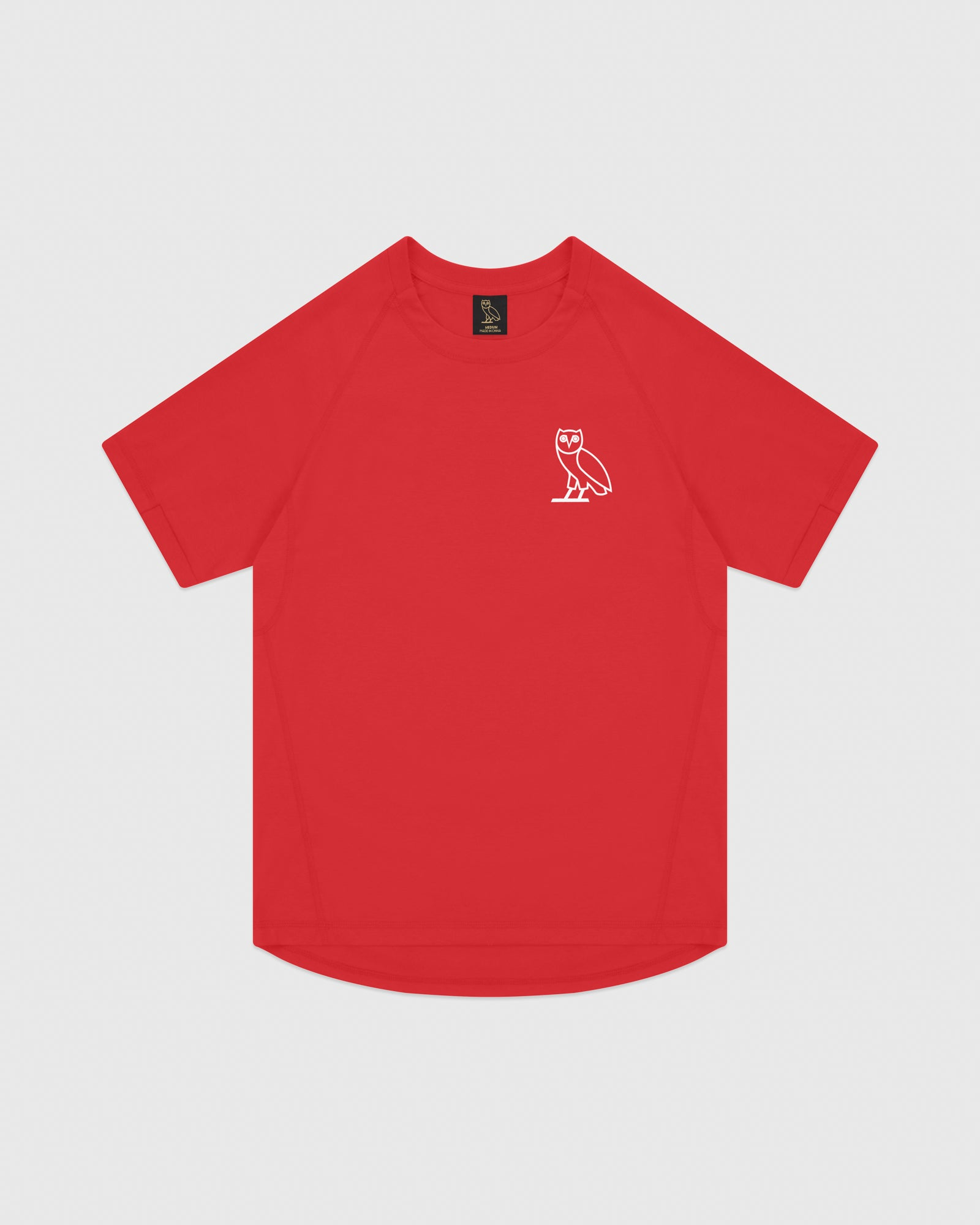 OVO PERFORMANCE JERSEY T-SHIRT - RED IMAGE #1