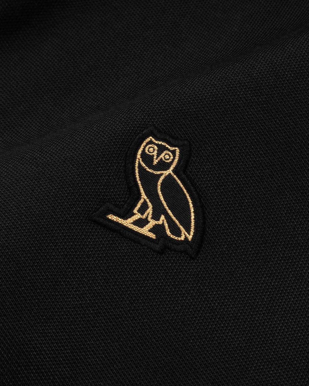 OVO ESSENTIALS PIQUE JACKET - BLACK