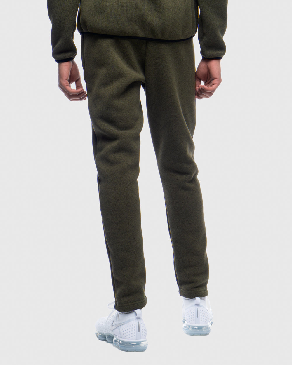 OVO POLARTEC® SWEATER FLEECE PANT - HEATHER STONE GREEN