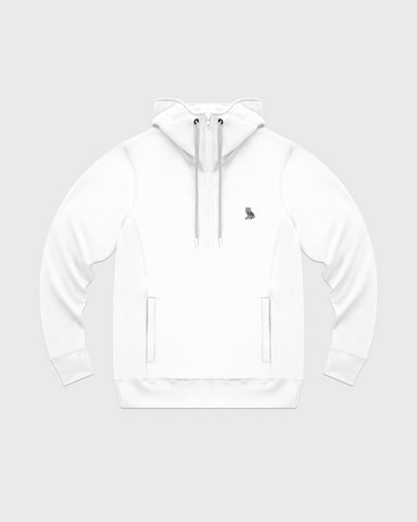OVO POLARTEC® POWER STRETCH ANORAK HOODIE - WHITE