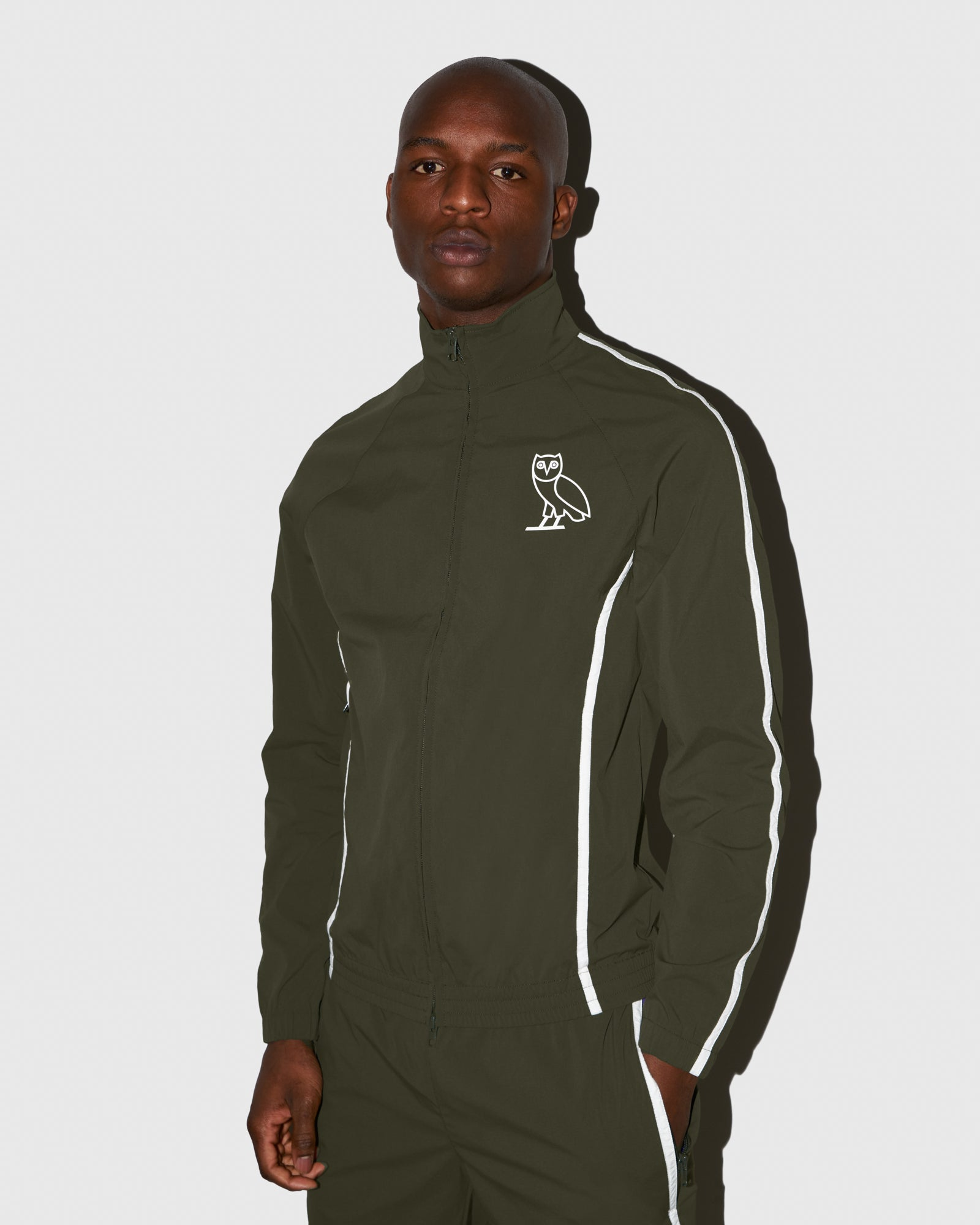 OVO MICRO RIPSTOP NYLON JACKET - MILITARY GREEN IMAGE #2