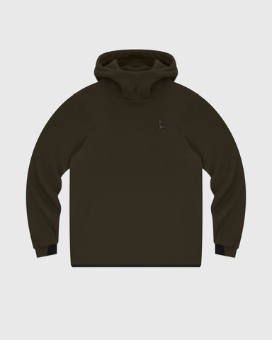 OVO PRIMALOFT® PERFORMANCE FLEECE HOODIE - STONE GREEN