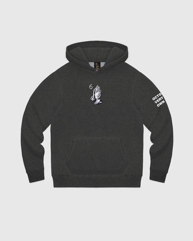 6 GOD HOODIE - CHARCOAL HEATHER