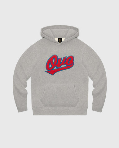 LENOX SCRIPT HOODIE - HEATHER GREY