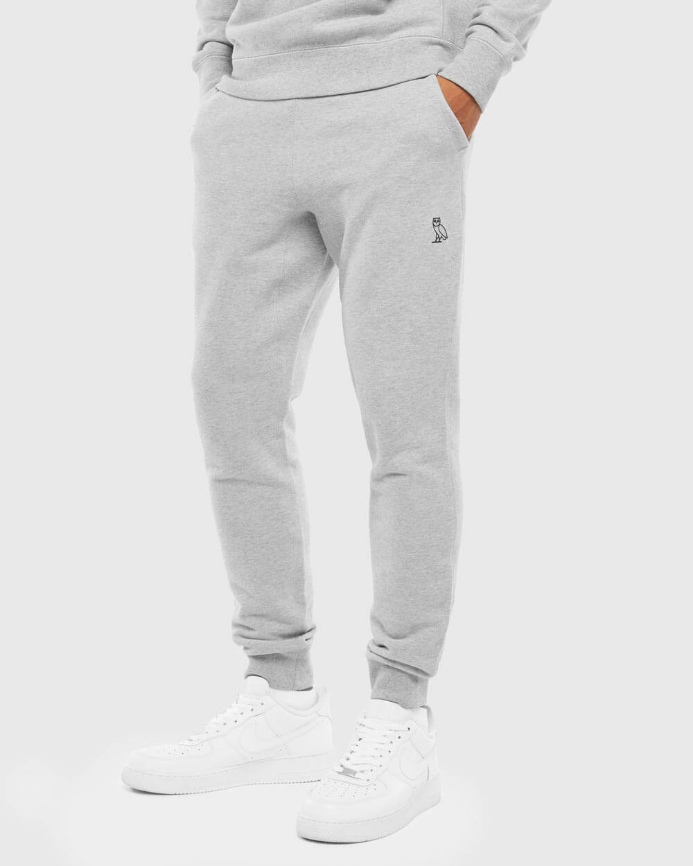 OVO ESSENTIALS SWEATPANT - HEATHER GREY IMAGE #2