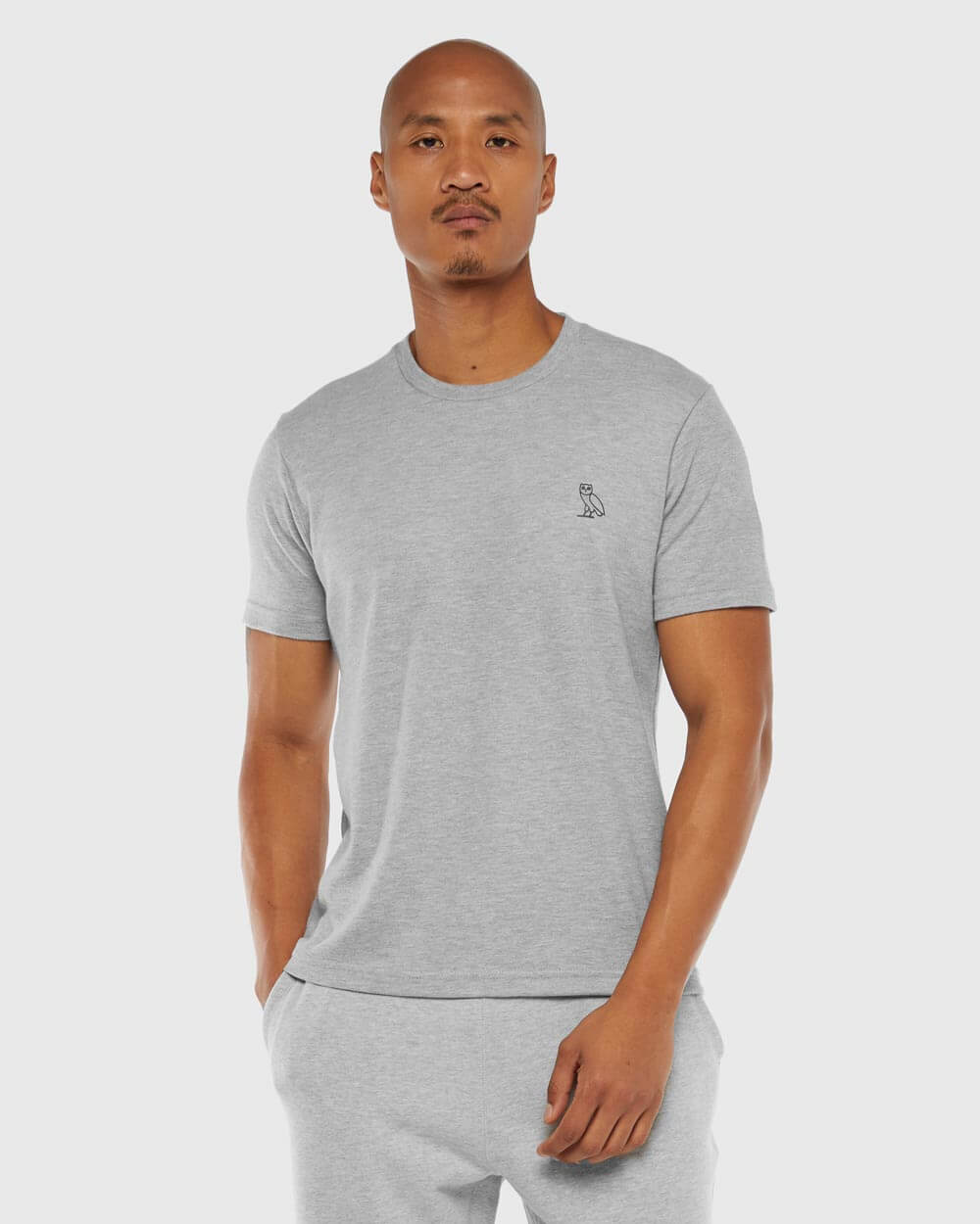 OVO ESSENTIALS T-SHIRT - HEATHER GREY IMAGE #2