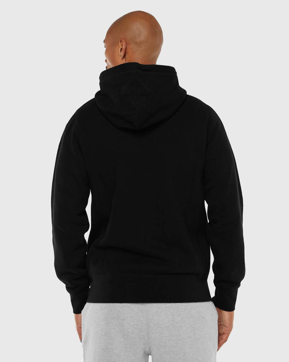 MID-WEIGHT FRENCH TERRY ZIP HOODIE - BLACK