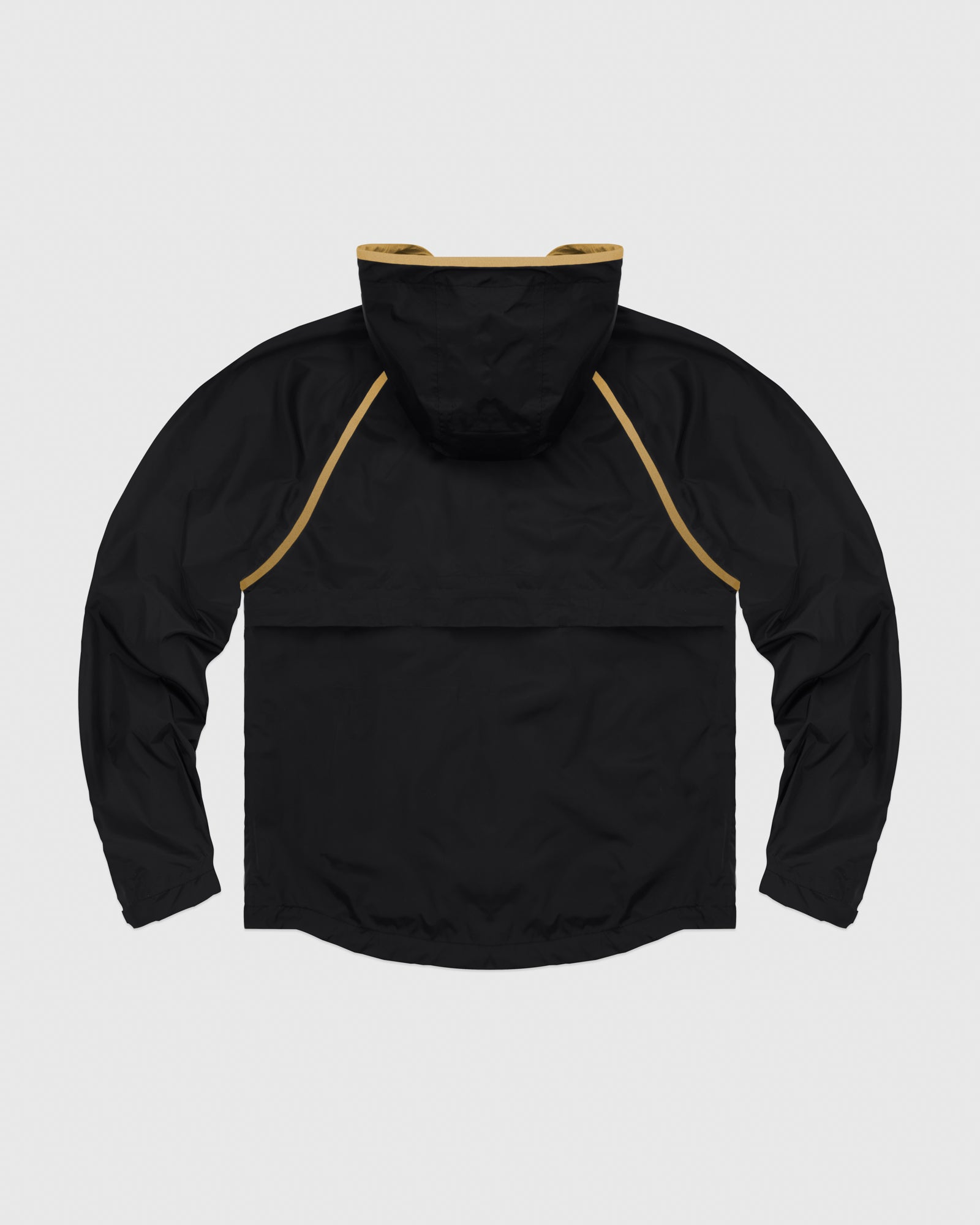 OVO HOODED SHELL JACKET - BLACK/GOLD IMAGE #7