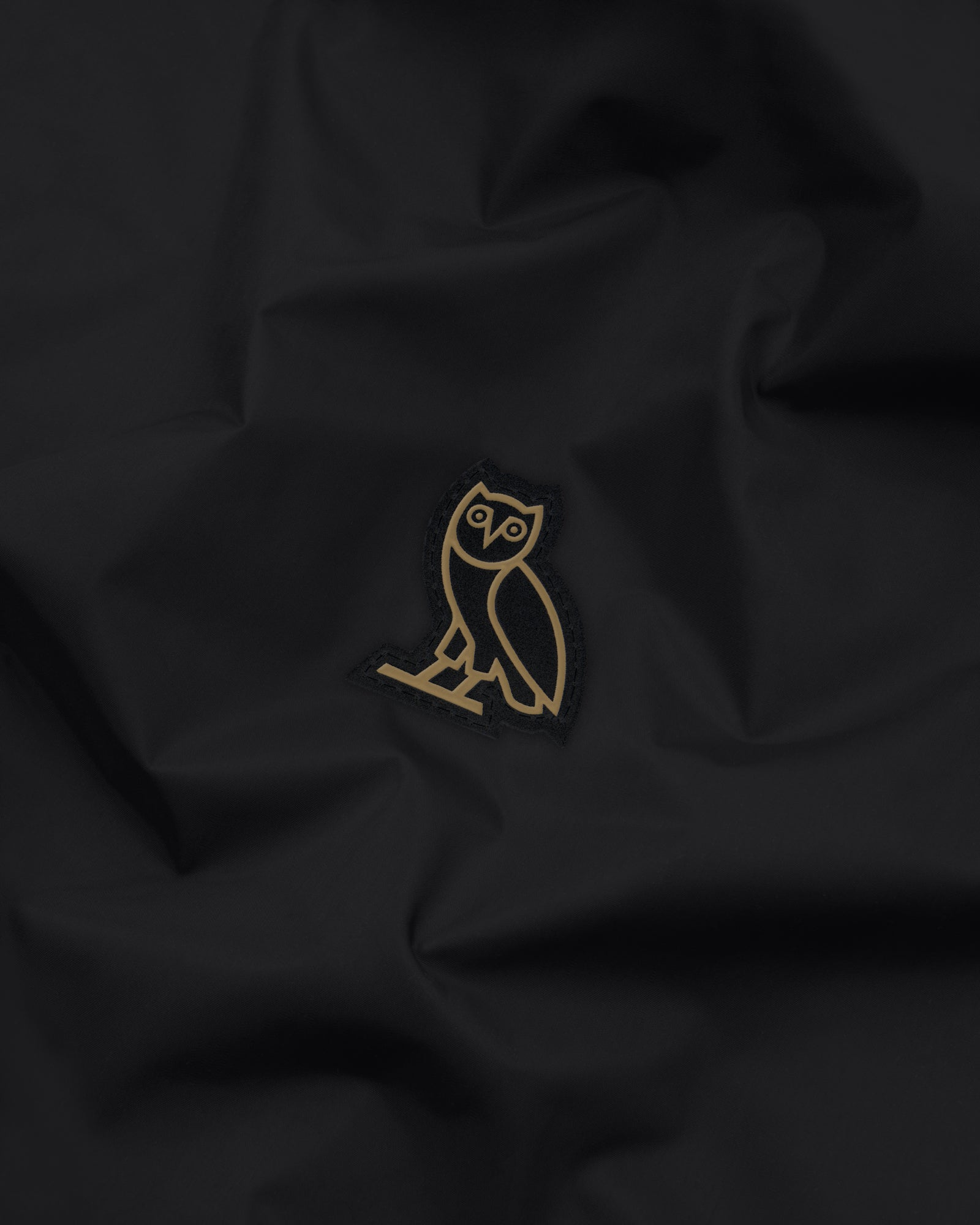 OVO HOODED SHELL JACKET - BLACK/GOLD IMAGE #4