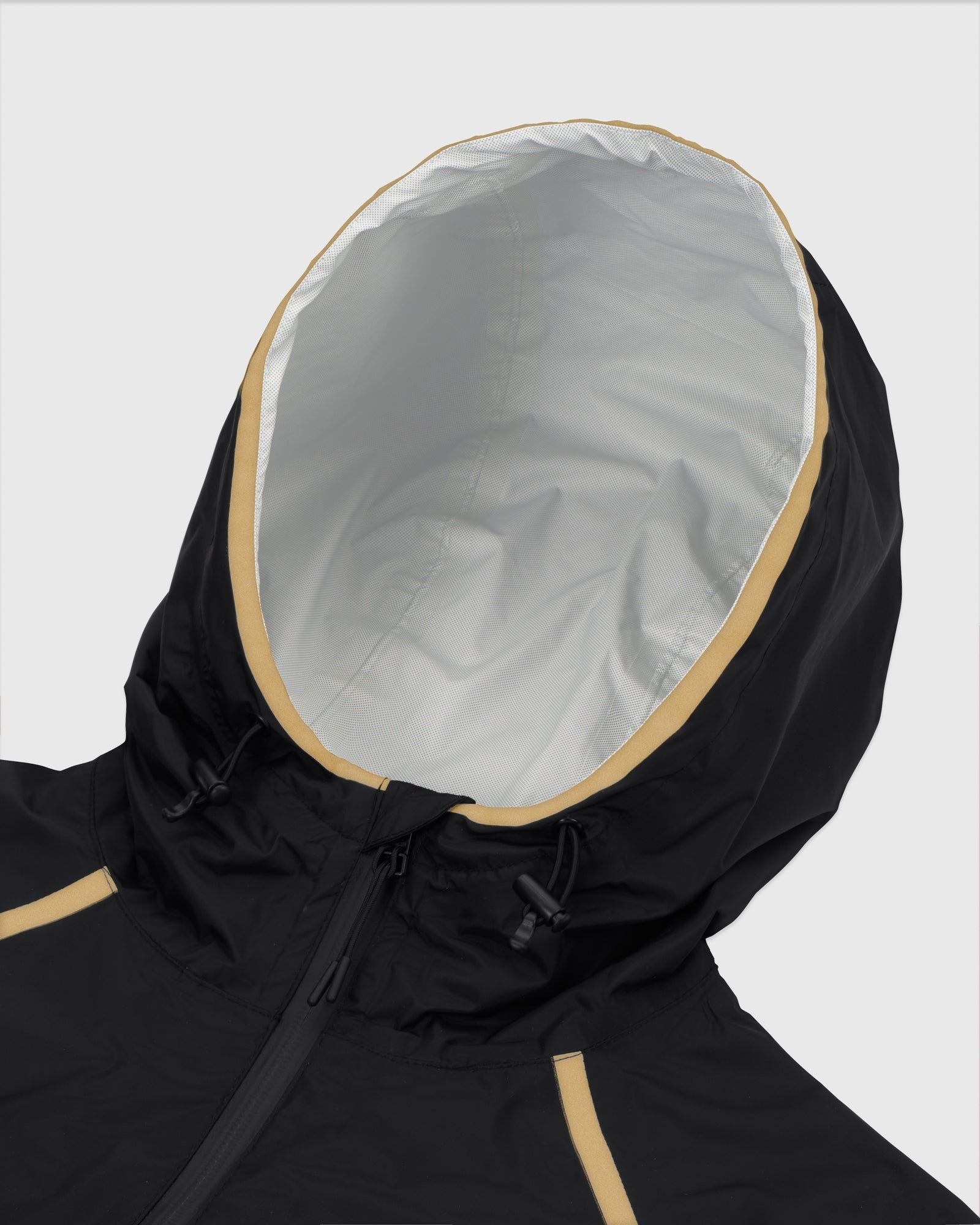 OVO HOODED SHELL JACKET - BLACK/GOLD IMAGE #5