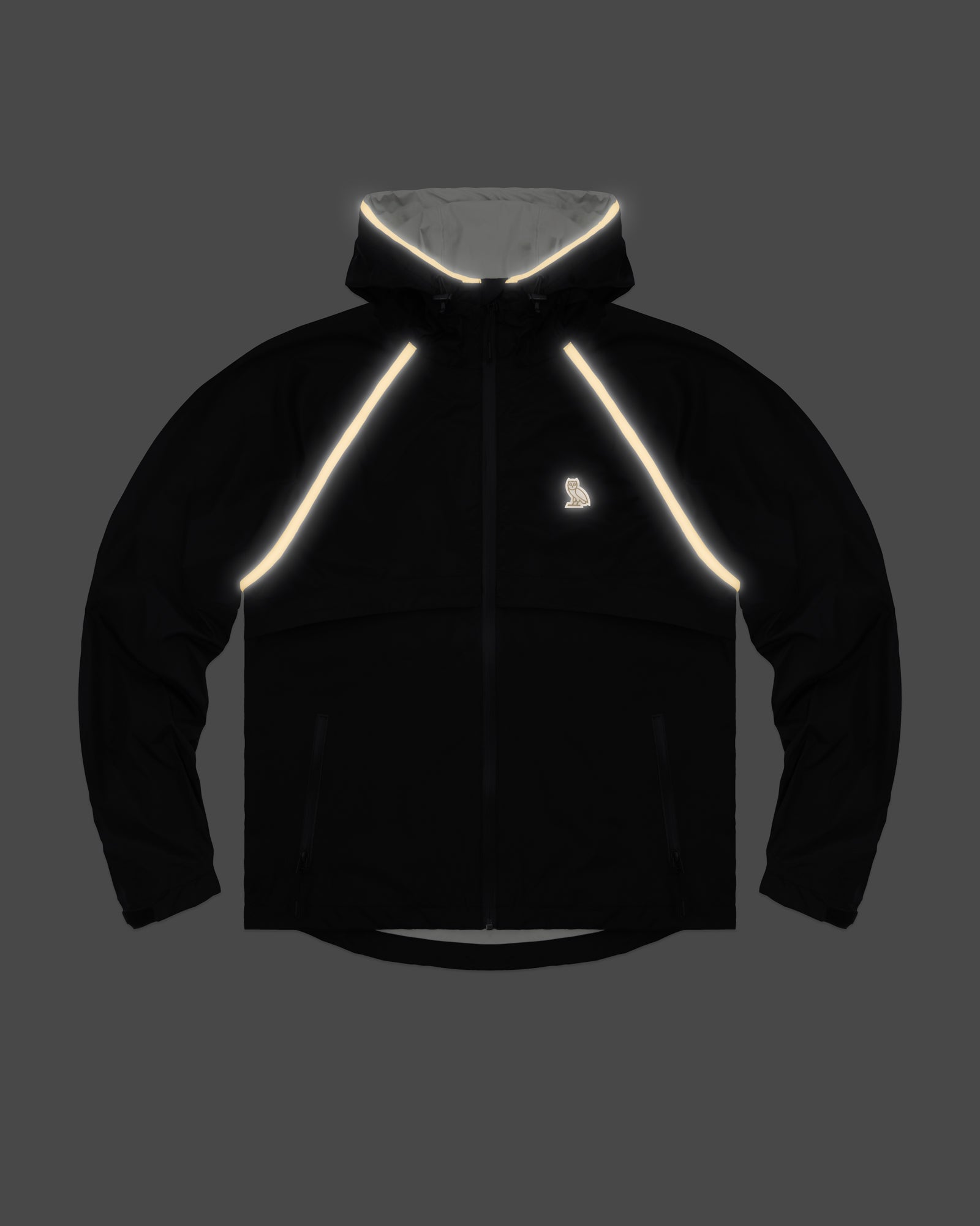 OVO HOODED SHELL JACKET - BLACK/GOLD IMAGE #3