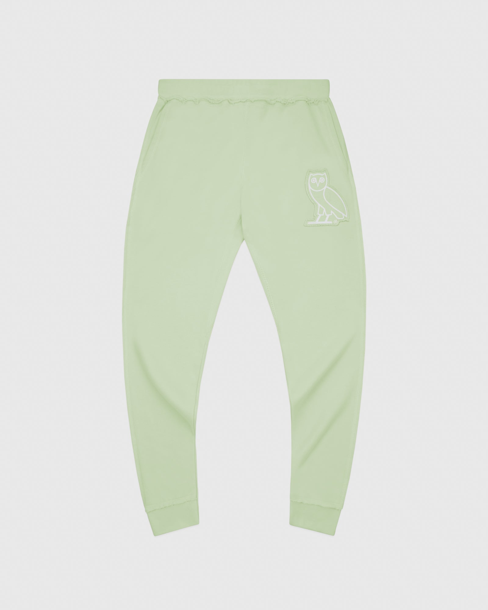 RAW EDGE FRENCH TERRY SWEATPANT - MINT IMAGE #1