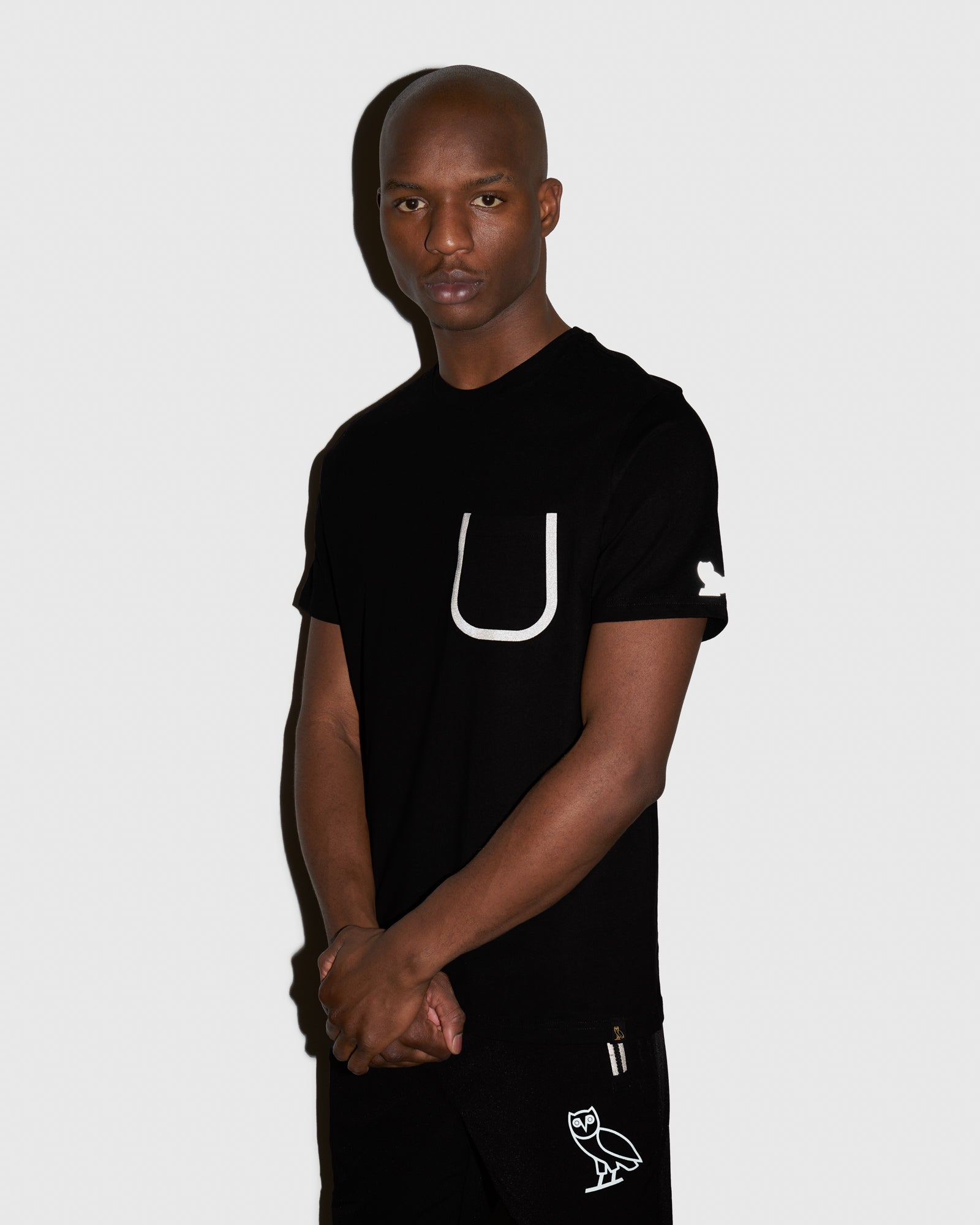 OVO REFLECTIVE POCKET T-SHIRT - BLACK