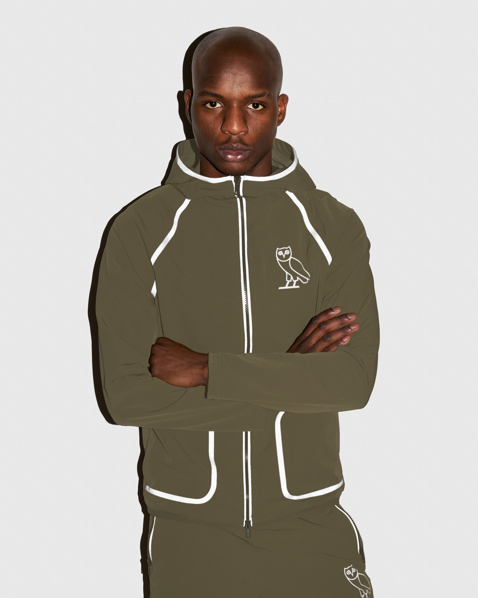 OVO 4-WAY STRETCH ZIP HOODIE - LIGHT STONE GREEN
