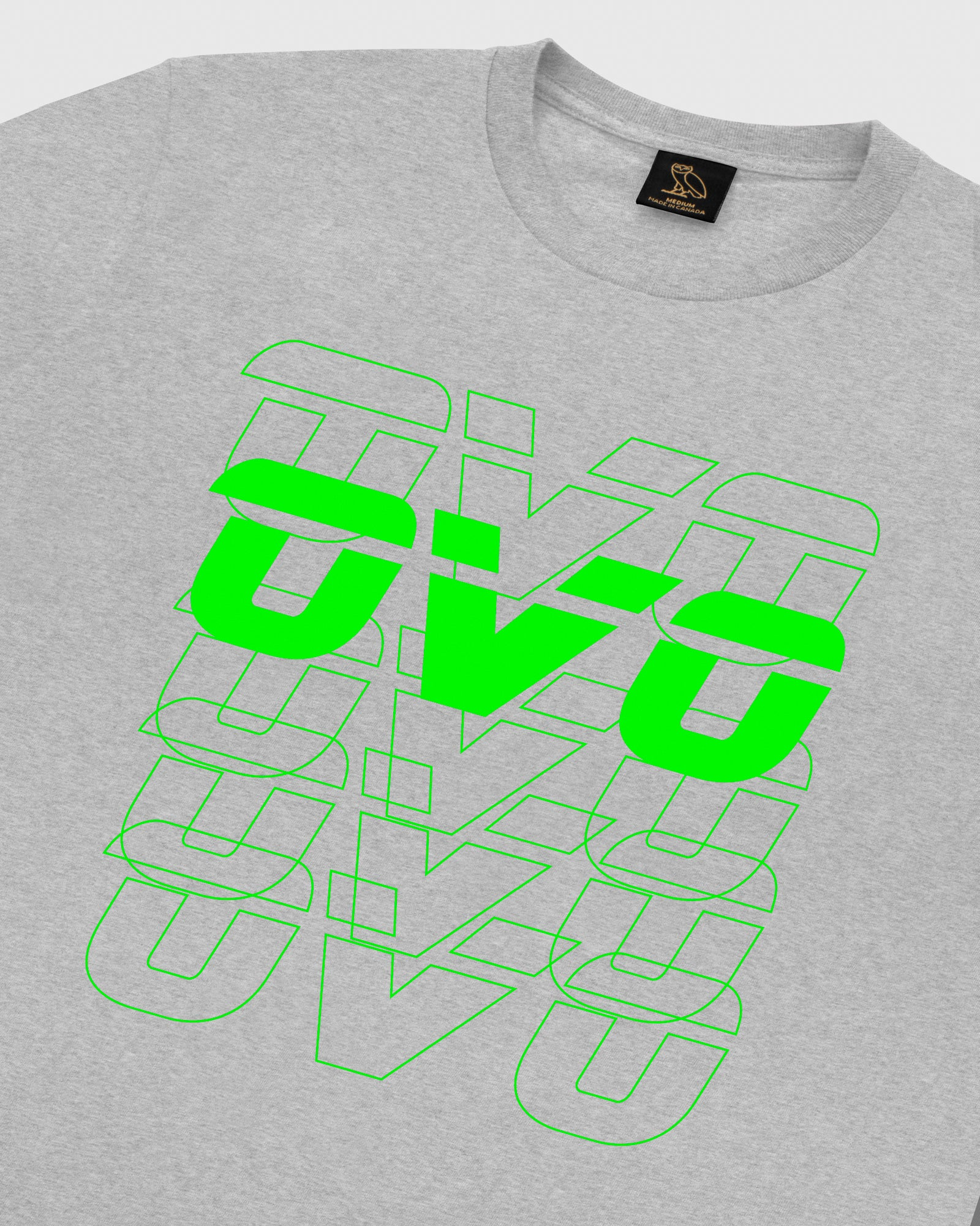 OVO RUNNER FADE T-SHIRT - HEATHER GREY