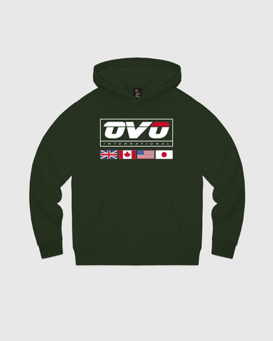 INTERNATIONAL HOODIE - FOREST GREEN
