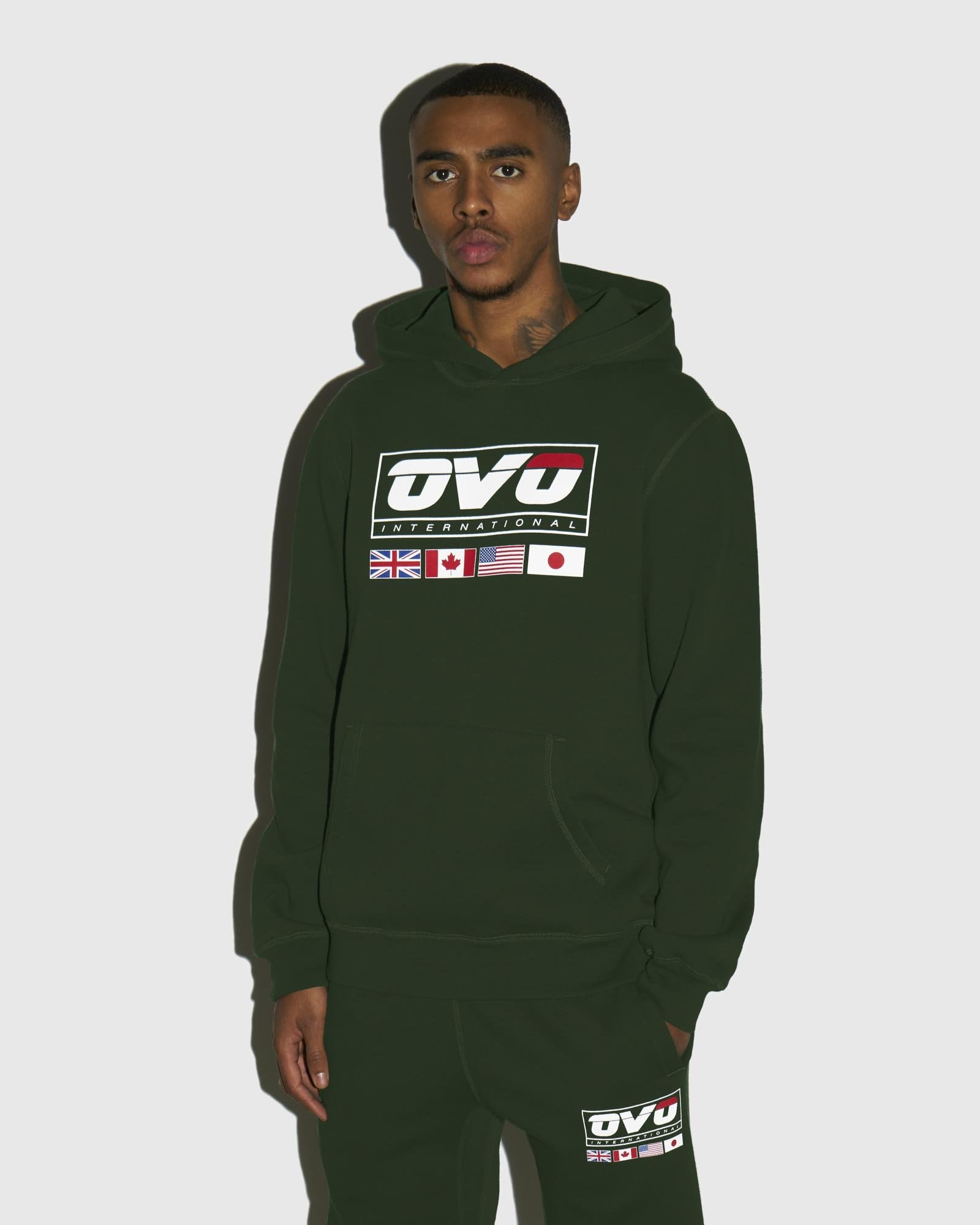 INTERNATIONAL HOODIE - FOREST GREEN IMAGE #2