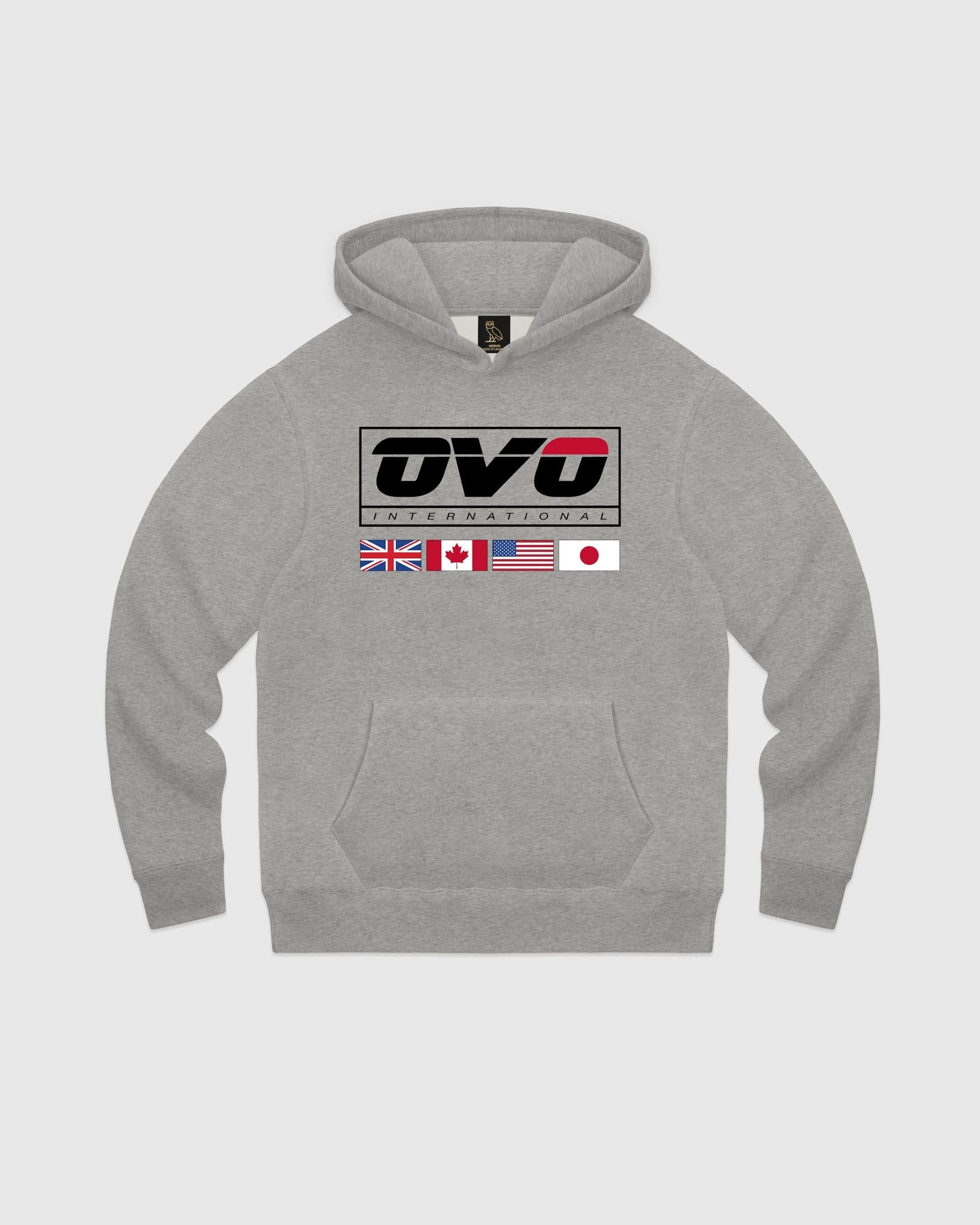 INTERNATIONAL HOODIE - HEATHER GREY IMAGE #1