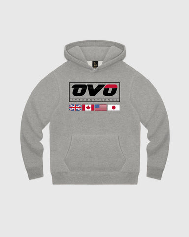 INTERNATIONAL HOODIE - HEATHER GREY