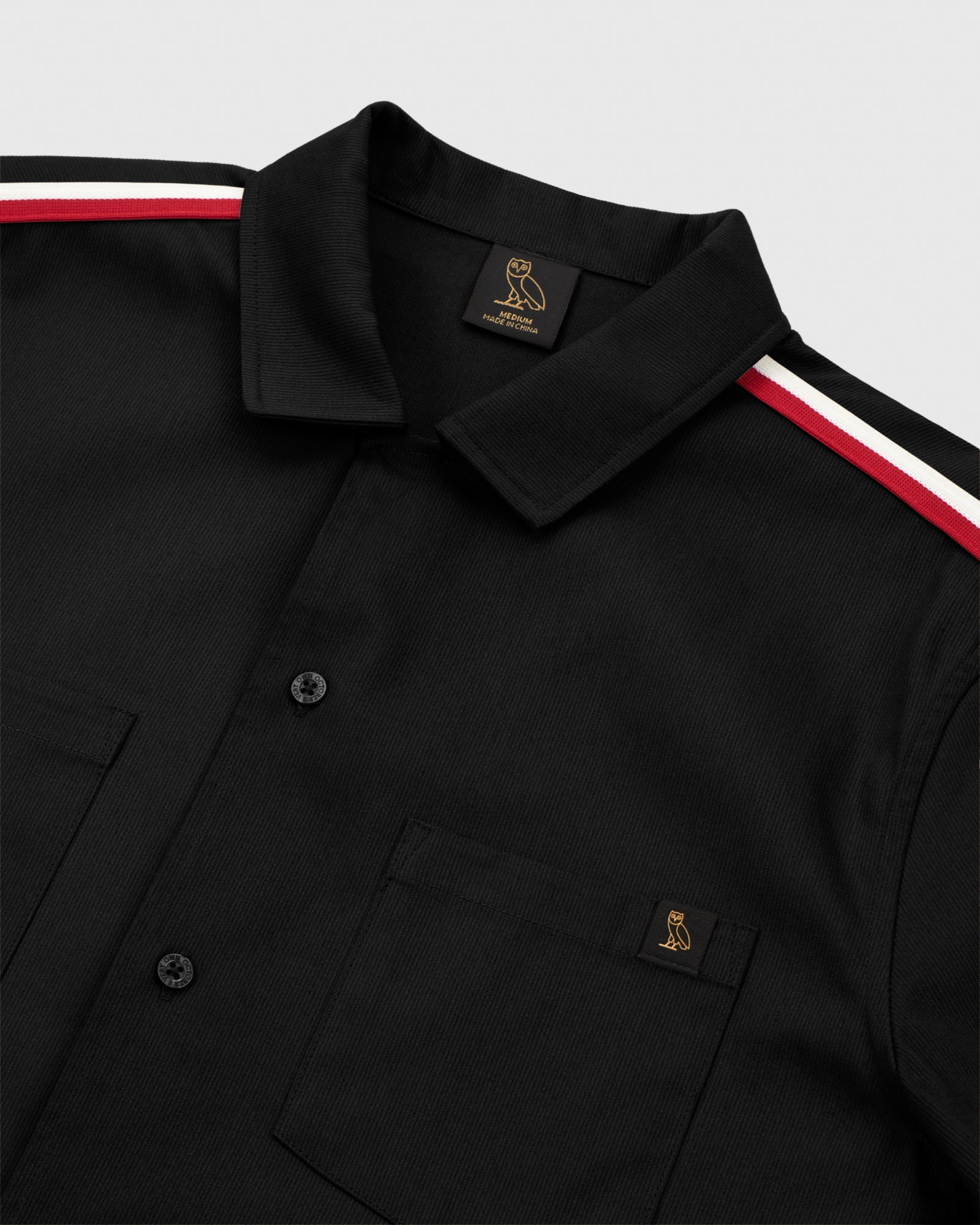 OVO BEDFORD TWILL SAFARI SHIRT - BLACK IMAGE #4
