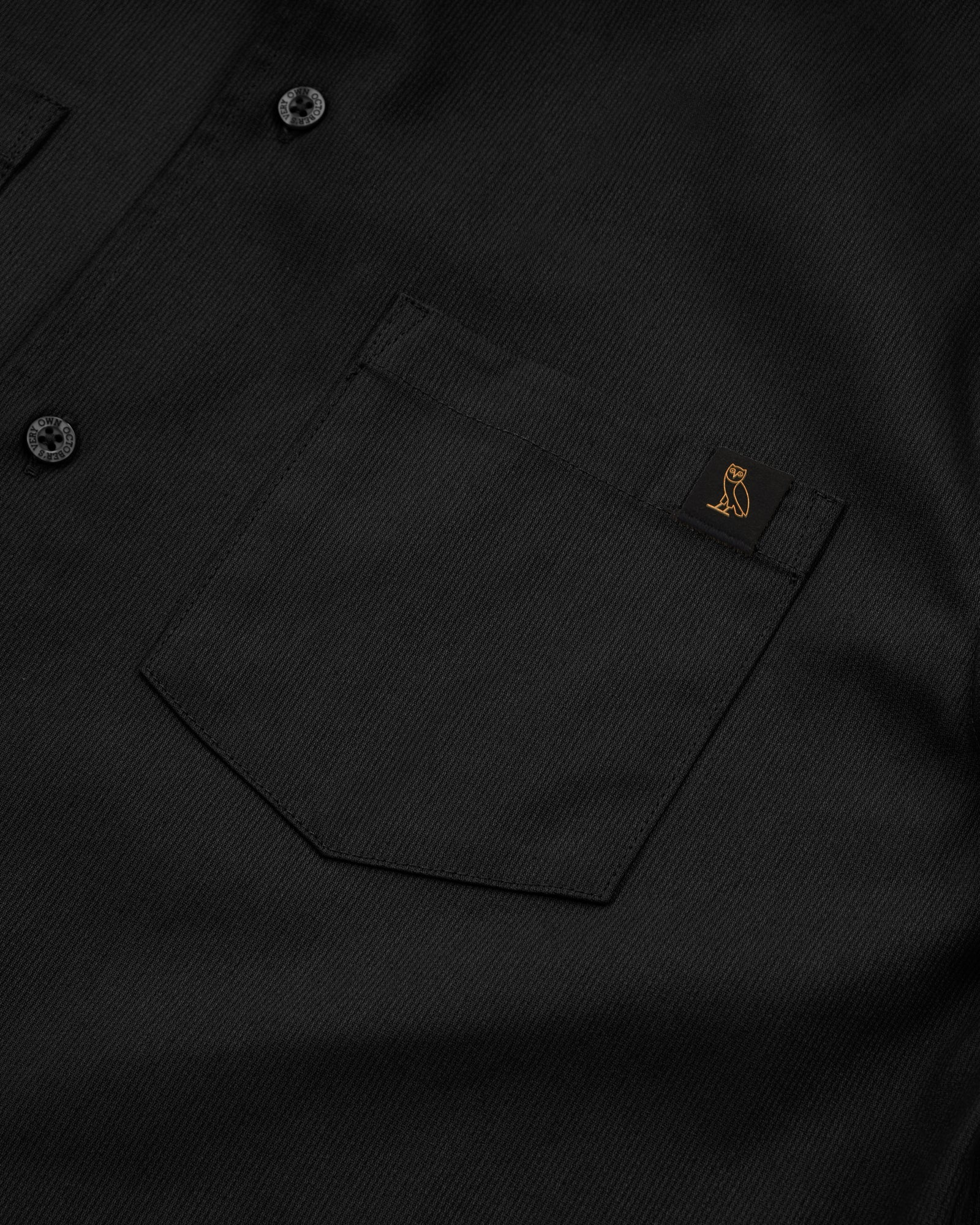 OVO BEDFORD TWILL SAFARI SHIRT - BLACK IMAGE #3