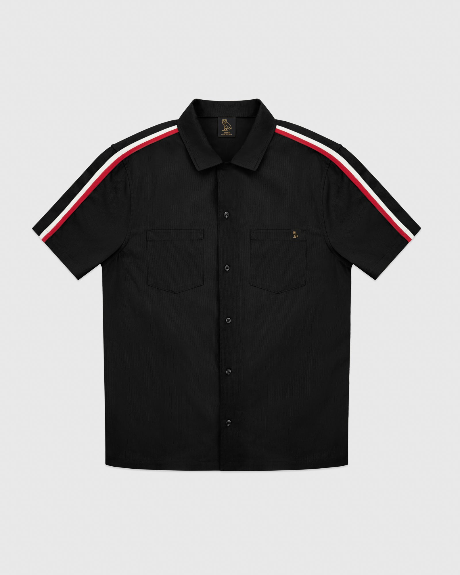 OVO BEDFORD TWILL SAFARI SHIRT - BLACK IMAGE #1