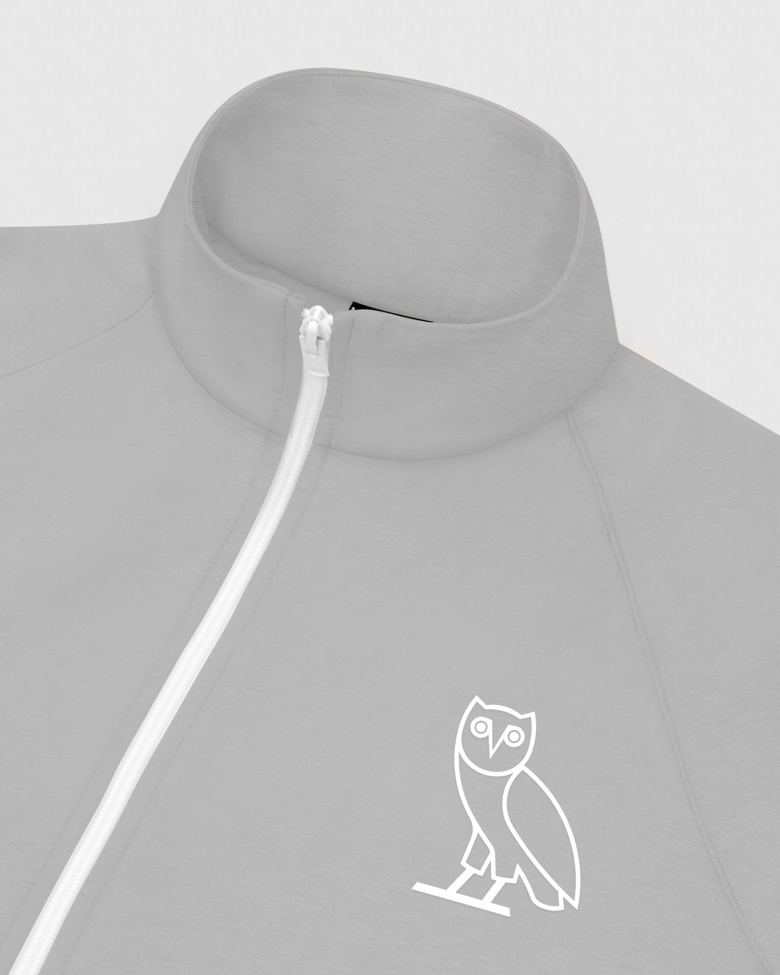 OVO INTERLOCK JACKET - HEATHER GREY IMAGE #3