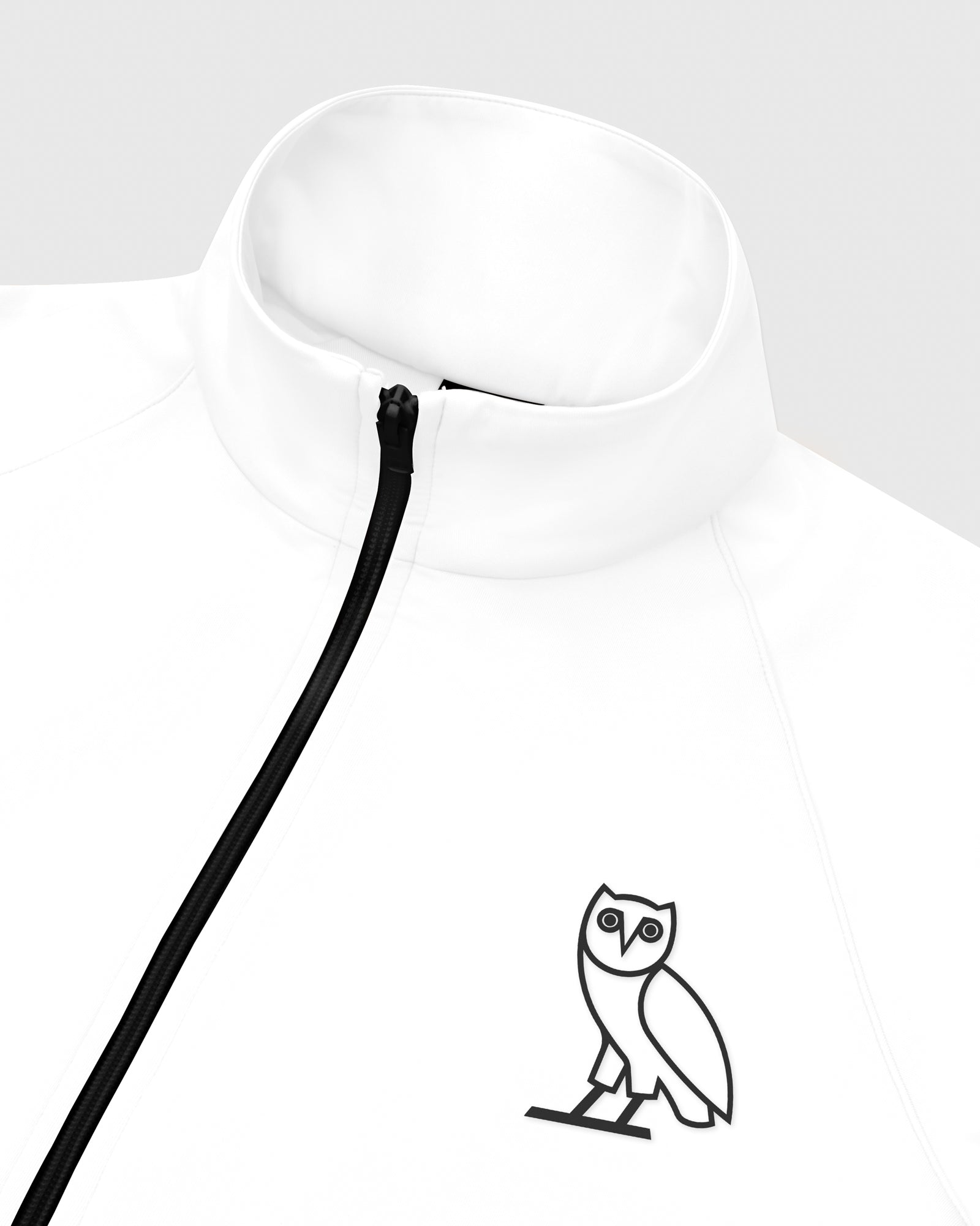 OVO INTERLOCK JACKET - WHITE IMAGE #3