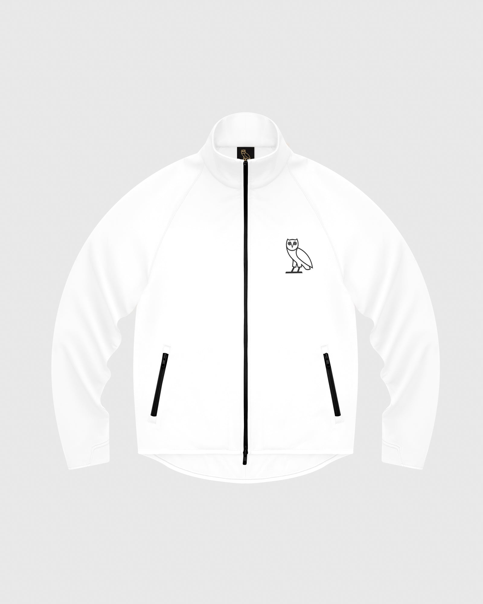 OVO INTERLOCK JACKET - WHITE IMAGE #1