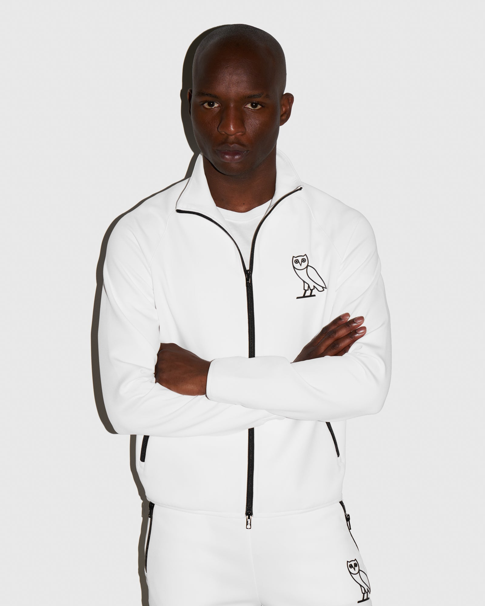 OVO INTERLOCK JACKET - WHITE IMAGE #2