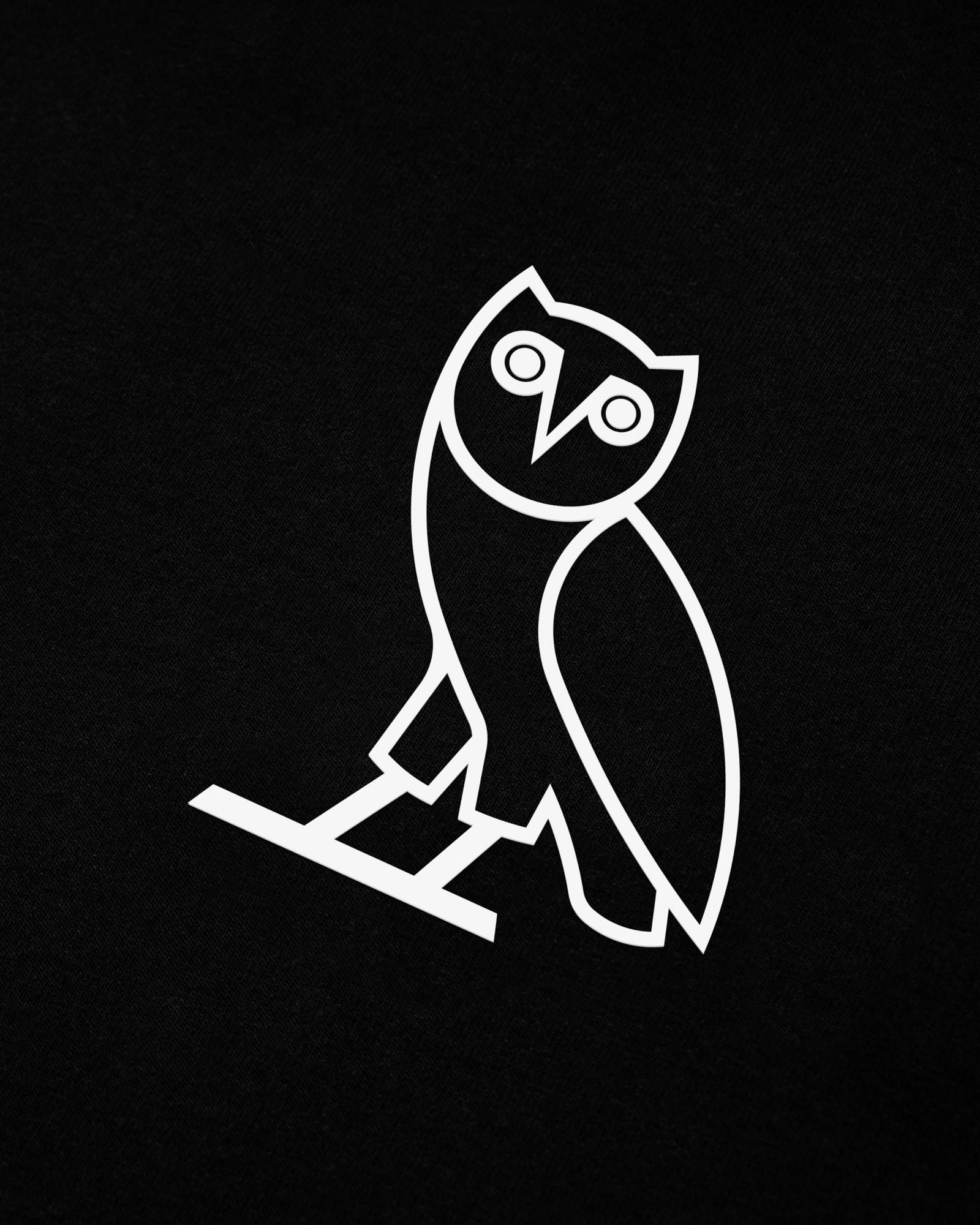 OVO LIGHTWEIGHT FRENCH TERRY HOODIE - BLACK IMAGE #3