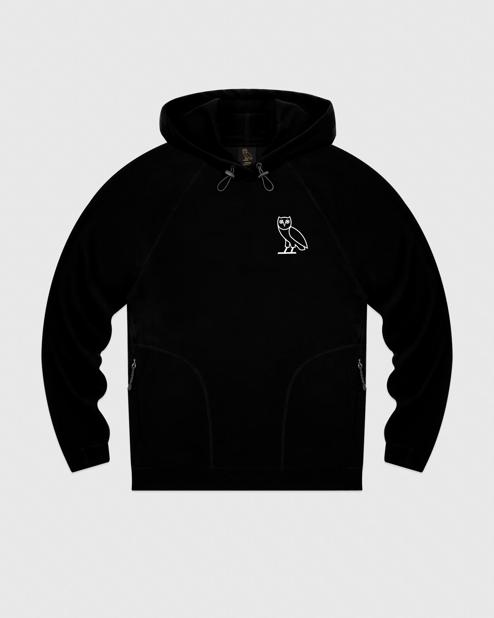 OVO LIGHTWEIGHT FRENCH TERRY HOODIE - BLACK IMAGE #1
