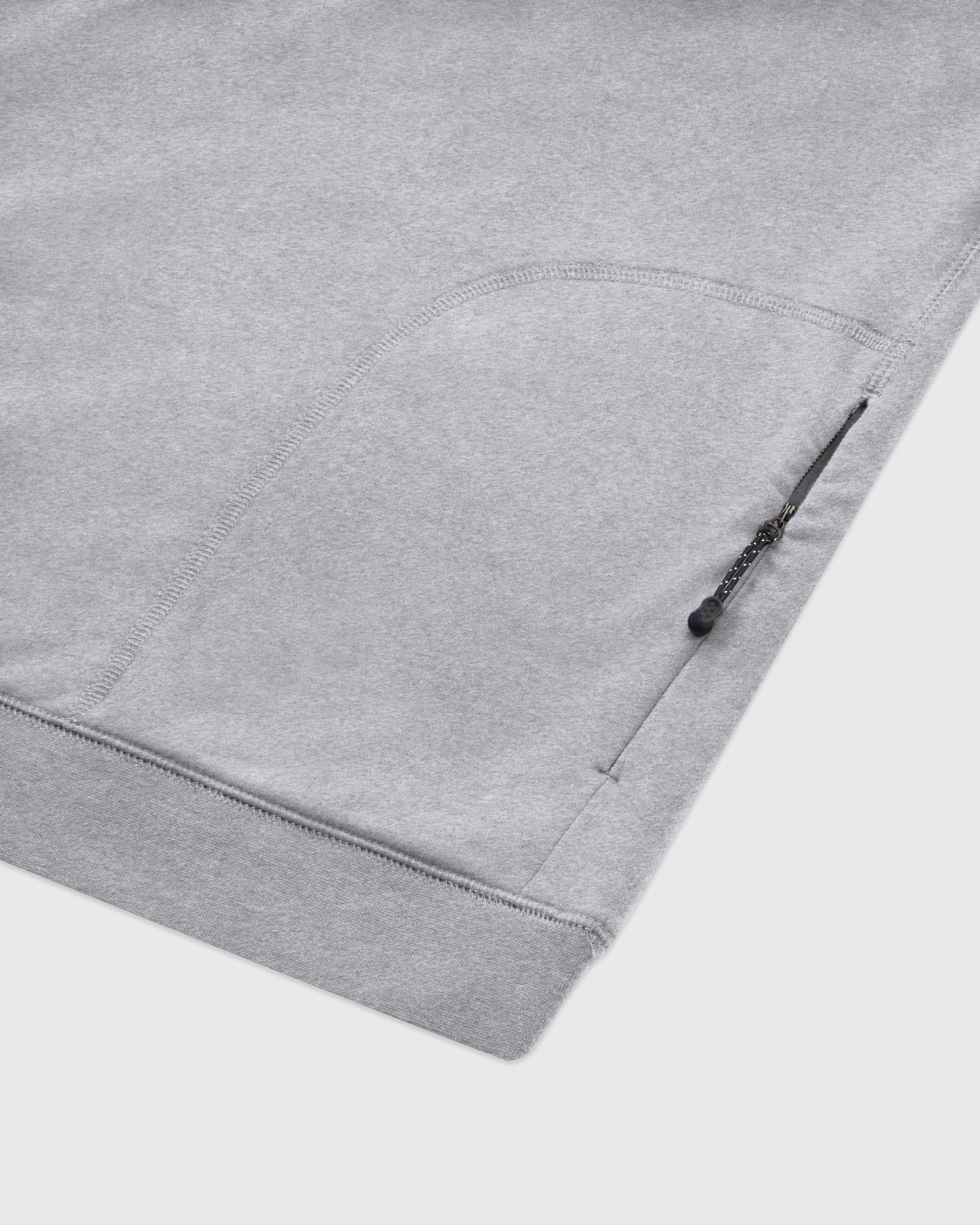 OVO LIGHTWEIGHT FRENCH TERRY HOODIE - HEATHER GREY IMAGE #4