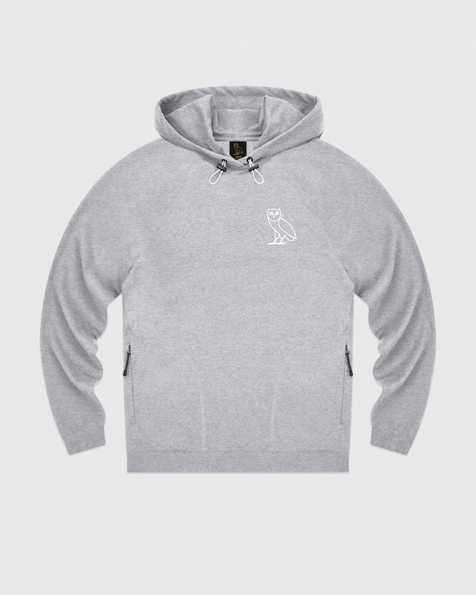 OVO LIGHTWEIGHT FRENCH TERRY HOODIE - HEATHER GREY IMAGE #1