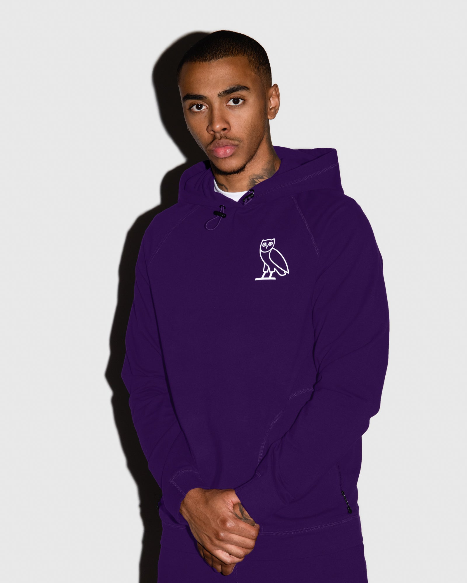 OVO LIGHTWEIGHT FRENCH TERRY HOODIE - PURPLE IMAGE #2