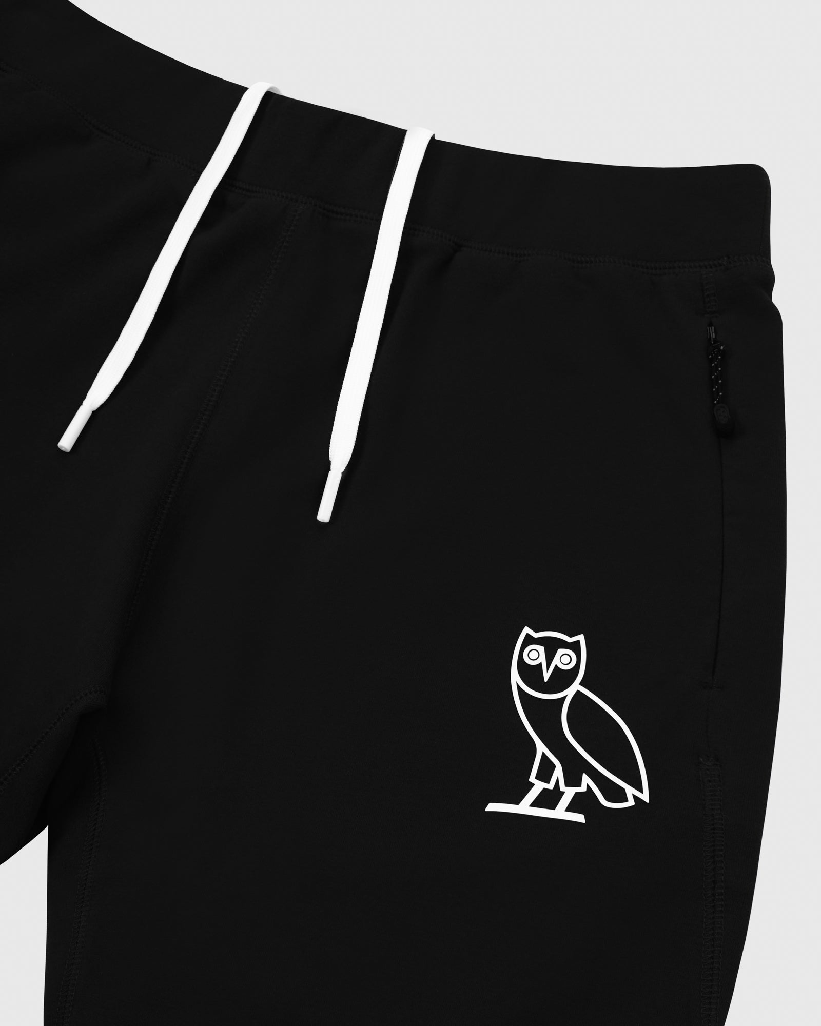 OVO LIGHTWEIGHT FRENCH TERRY SWEATPANT - BLACK IMAGE #3