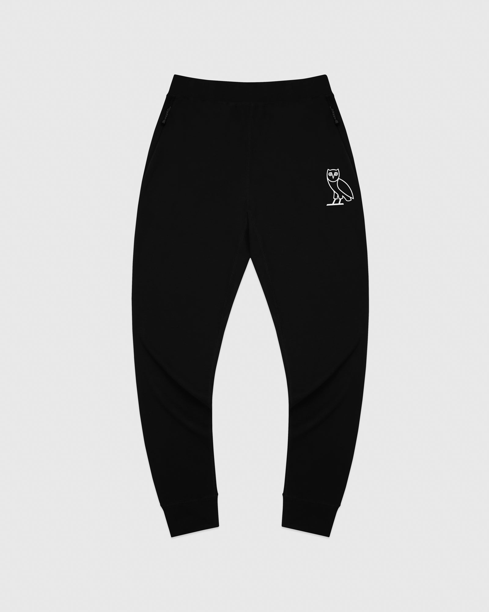 OVO LIGHTWEIGHT FRENCH TERRY SWEATPANT - BLACK IMAGE #1