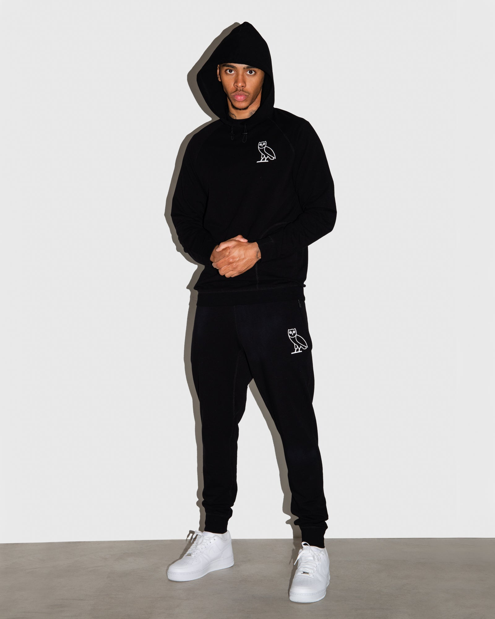 OVO LIGHTWEIGHT FRENCH TERRY SWEATPANT - BLACK IMAGE #2