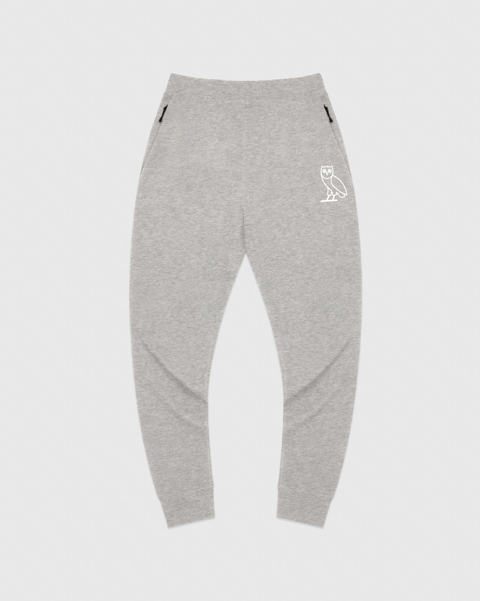 OVO LIGHTWEIGHT FRENCH TERRY SWEATPANT - HEATHER GREY IMAGE #1