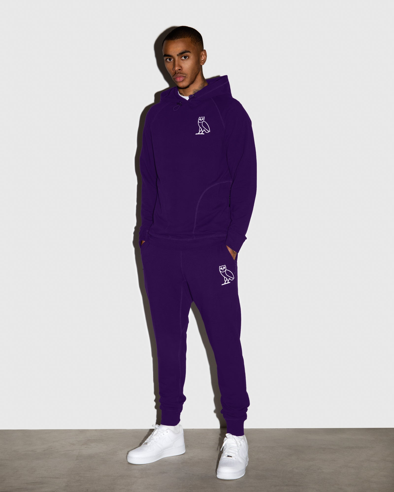 OVO LIGHTWEIGHT FRENCH TERRY SWEATPANT - PURPLE IMAGE #2