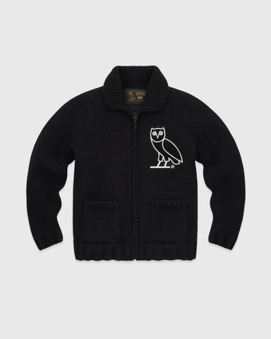 OVO WOOL KNIT SWEATER - BLACK