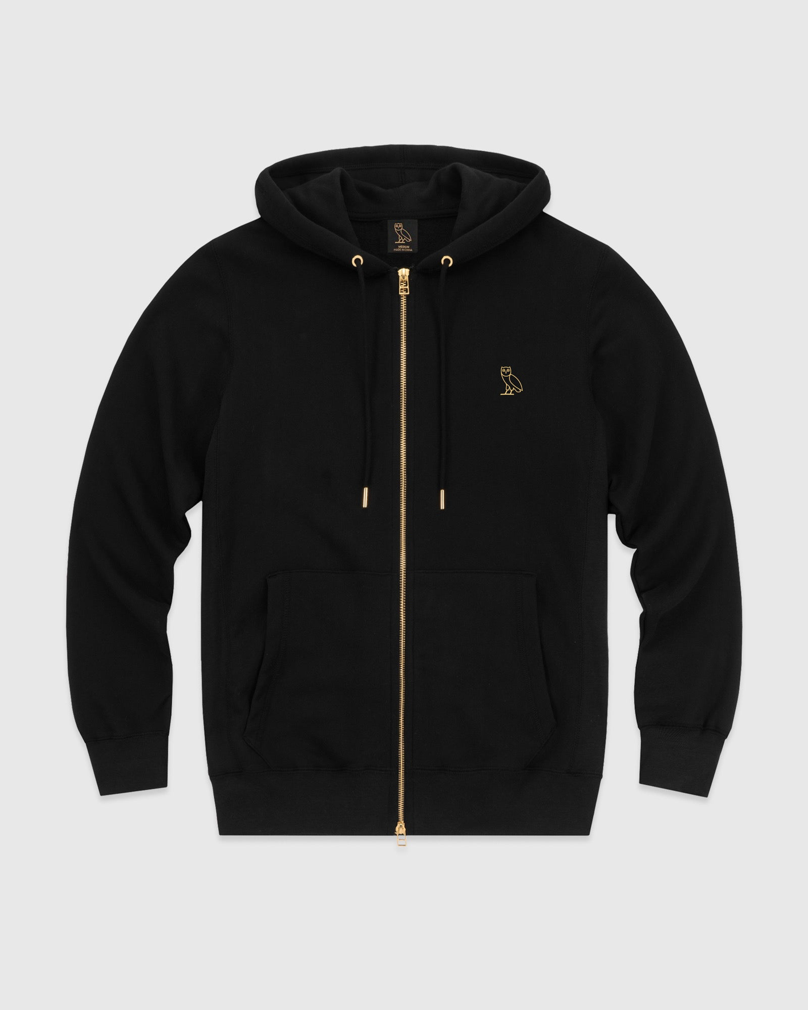 OVO ESSENTIALS ZIP HOODIE - BLACK IMAGE #1