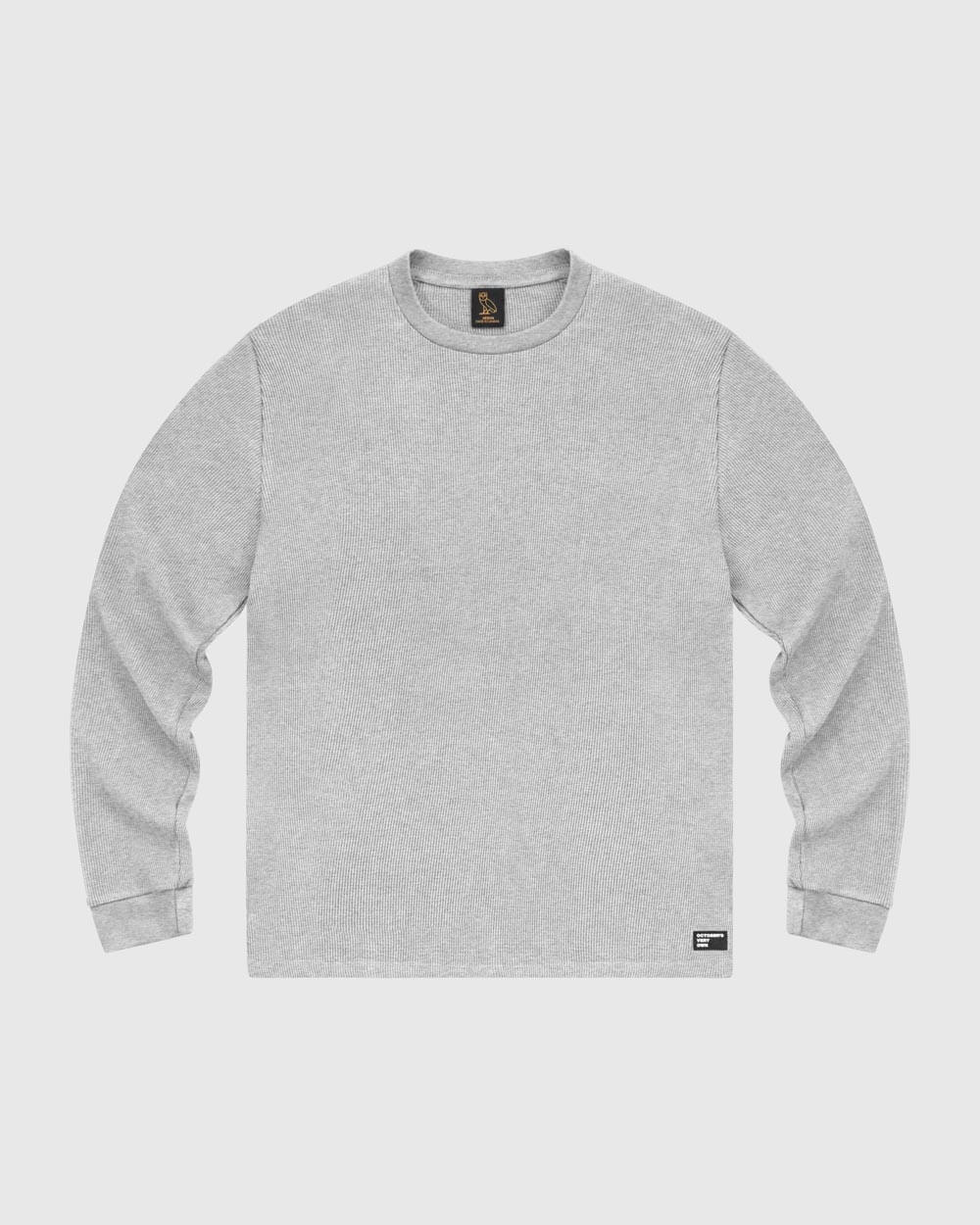 OVO THERMAL KNIT LONGSLEEVE - HEATHER GREY