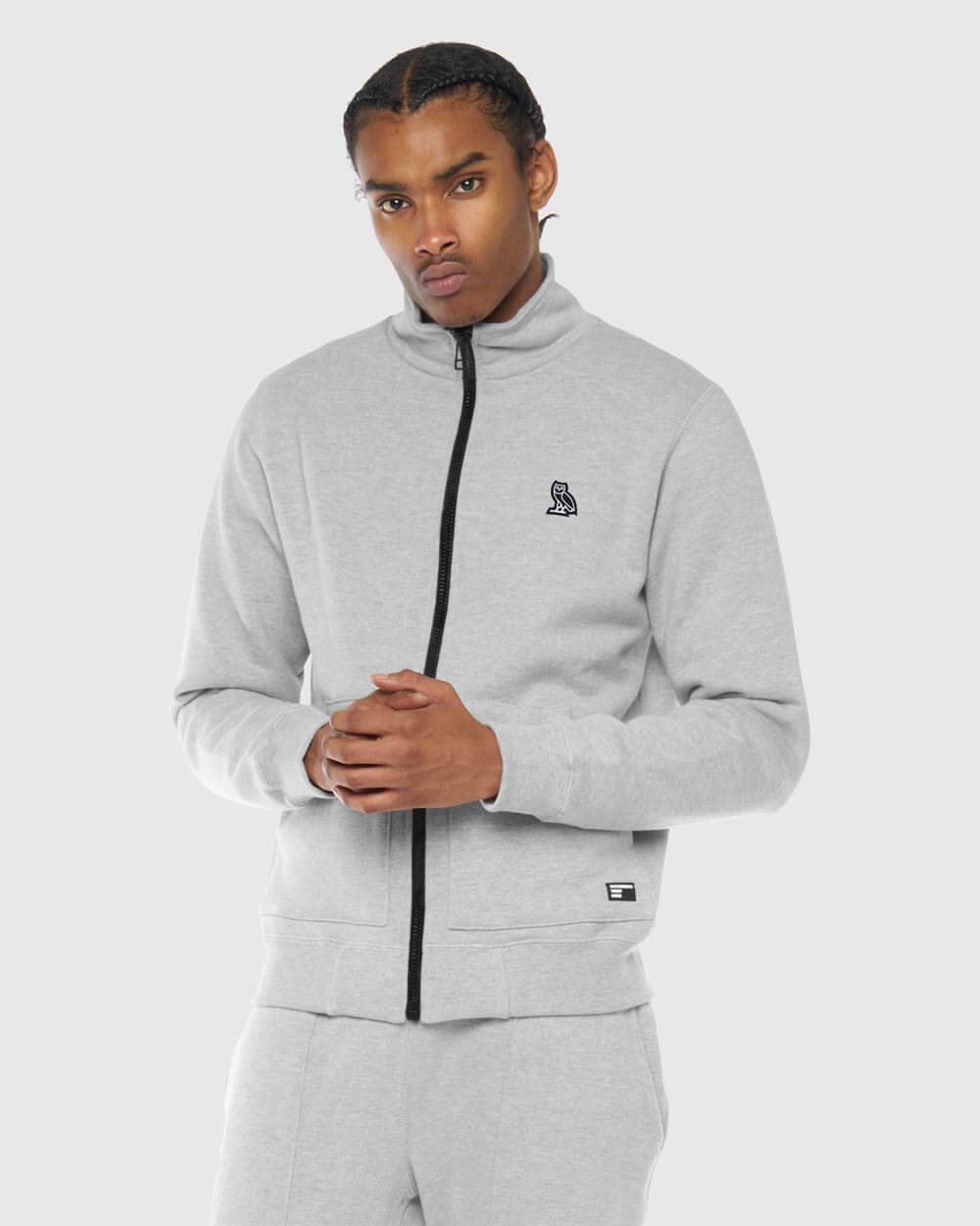 OVO THERMAL TRACK JACKET - HEATHER GREY