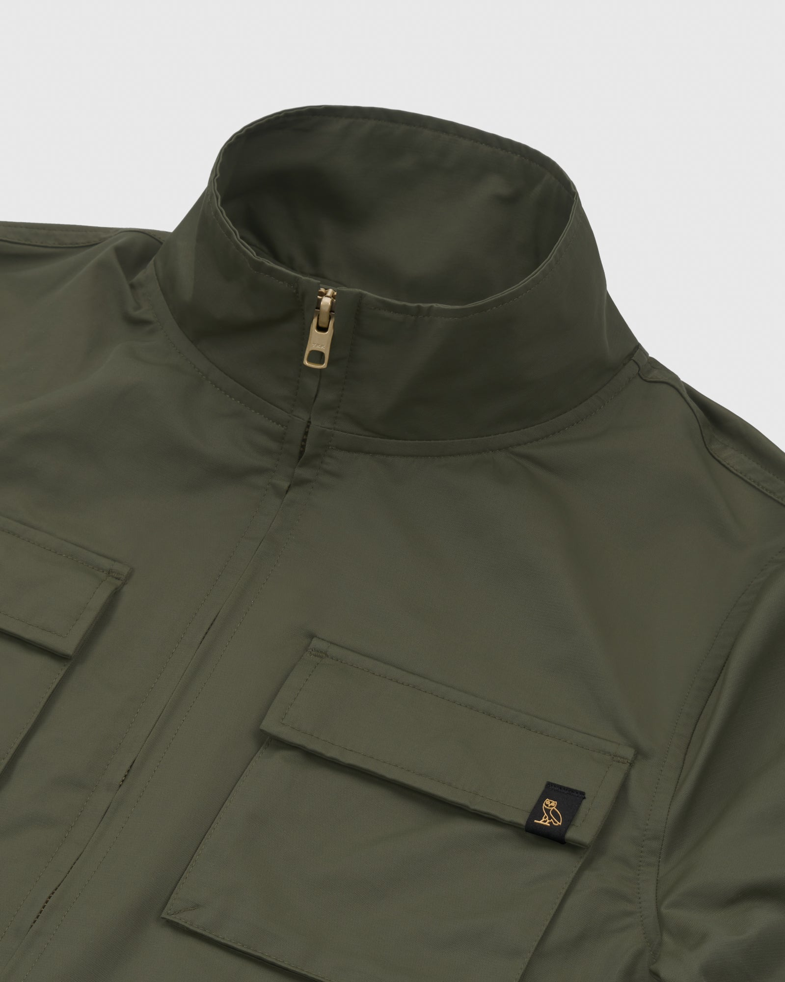 WOMEN'S OVO NYLON JACKET - STONE GREEN IMAGE #4